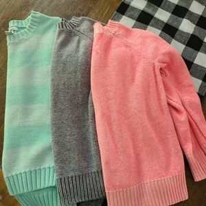 Girls sweaters size 6/7